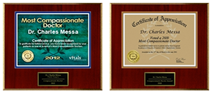 Dr. Charles Messa - Most compassionate award 2012