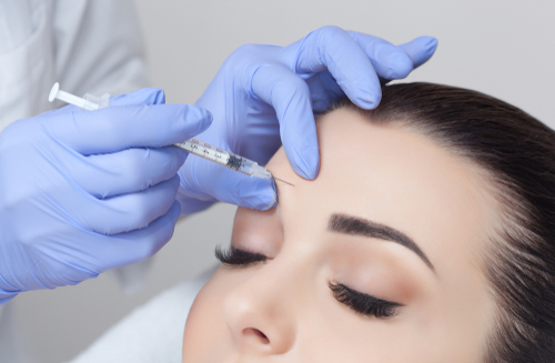 doctor makes the Rejuvenating facial injections procedure for tightening and smoothing wrinkles on the face-img-blog