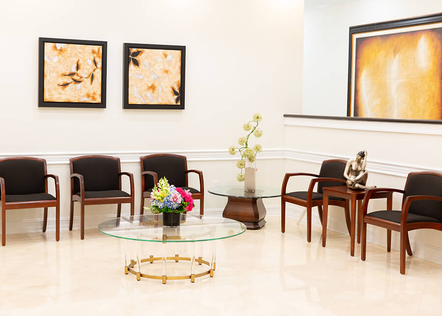 Office Lobby with Artwork