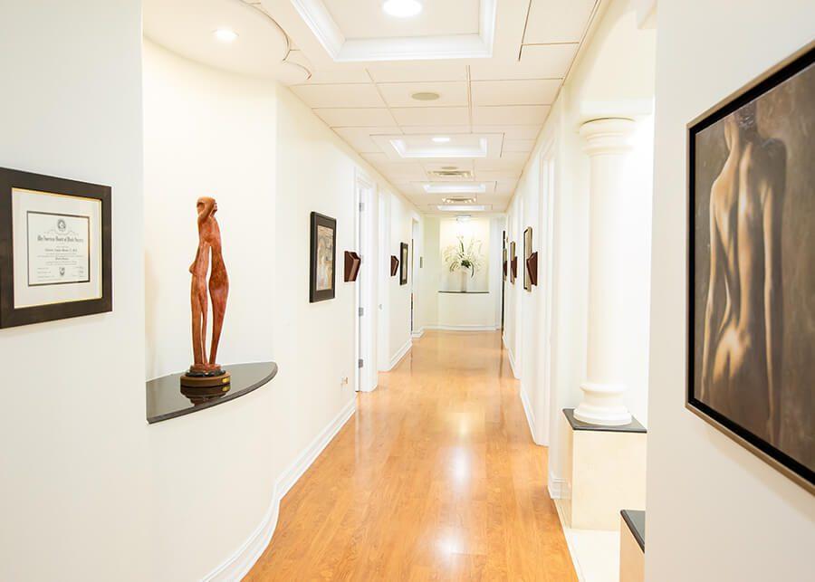 Office Hallway with Artwork